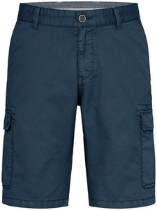 Fynch-Hatton Cargo Shorts Cotton Garment Dyed Bermuda Night