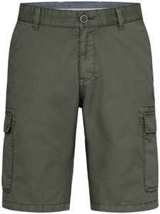 Fynch-Hatton Cargo Shorts Cotton Garment Dyed Bermuda Olive