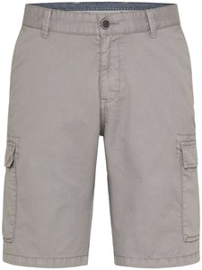 Fynch-Hatton Cargo Shorts Cotton Garment Dyed Bermuda Steel