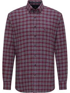 Fynch-Hatton Casual Multi Check Flannel Shirt Merlot