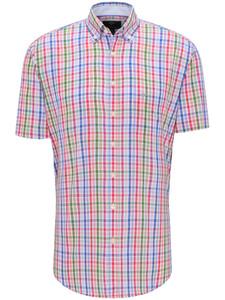 Fynch-Hatton Check Story Button Down Overhemd Crocus-Blue