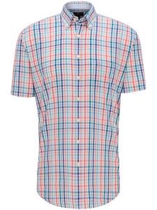 Fynch-Hatton Check Story Button Down Overhemd Watermelon-Caribbean