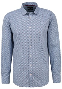 Fynch-Hatton Circle Fantasy Kent Overhemd Blauw