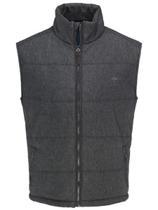 Fynch-Hatton City Vest Wool Look Body-Warmer Anthra