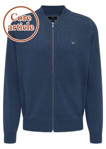 Fynch-Hatton Collegekraag Zipper Vest Vest Night