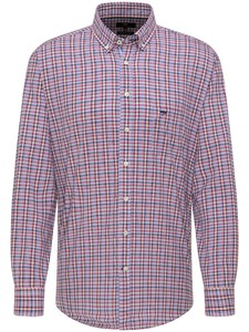 Fynch-Hatton Colorful Mini Check Shirt Thistle