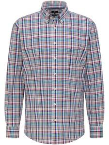 Fynch-Hatton Colorful Multi Check Shirt Azure