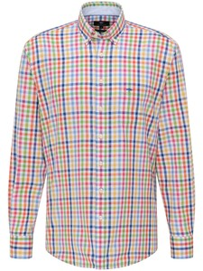 Fynch-Hatton Combi Check Overhemd Multicolor