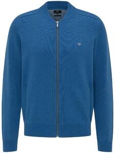 Fynch-Hatton Cotton Cardigan College Vest Azure