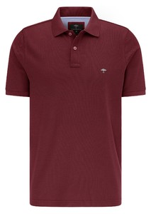 Fynch-Hatton Cotton Uni Polo Polo Merlot