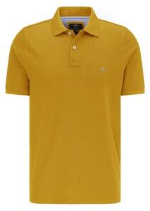 Fynch-Hatton Cotton Uni Polo Polo Mosterd