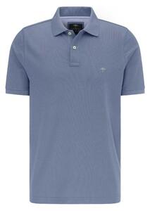 Fynch-Hatton Cotton Uni Polo Poloshirt Ice Blue
