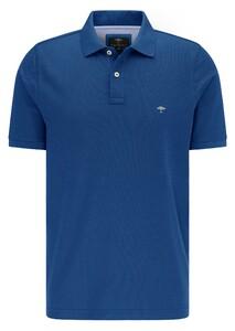 Fynch-Hatton Cotton Uni Polo Poloshirt Royal