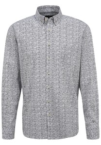 Fynch-Hatton Fancy Stripe Pattern Overhemd Wit