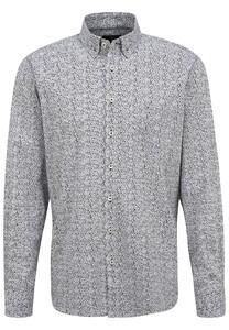 Fynch-Hatton Fancy Stripe Pattern Shirt White