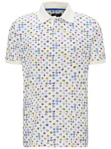Fynch-Hatton Fantasy Multicolor Dots Polo Wit