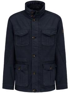 Fynch-Hatton Fieldjacket Linen Mix Jack Navy