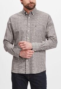 Fynch-Hatton Fine Modern Check Overhemd Arabica
