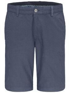 Fynch-Hatton Fine Pattern Garment Dyed Bermuda Pacific