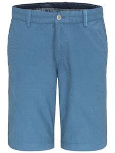 Fynch-Hatton Fine Pattern Garment Dyed Bermuda Soda