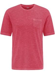 Fynch-Hatton Garment Dyed Breast Pocket T-Shirt Hibiscus