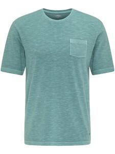 Fynch-Hatton Garment Dyed Breast Pocket T-Shirt Lindgreen