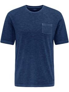Fynch-Hatton Garment Dyed Breast Pocket T-Shirt Midnight