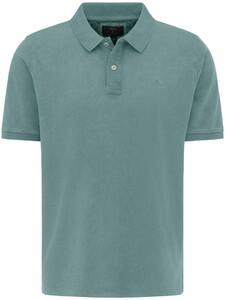 Fynch-Hatton Garment Dyed Uni Polo Lindgreen