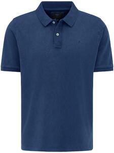 Fynch-Hatton Garment Dyed Uni Poloshirt Midnight