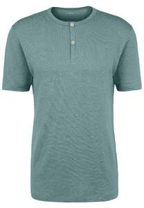 Fynch-Hatton Henley Shirt Linnen T-Shirt Lindgreen