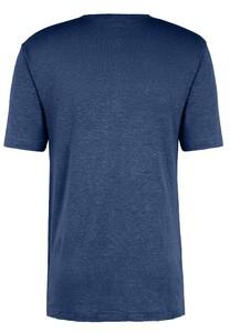 Fynch-Hatton Henley Shirt Linnen T-Shirt Midnight