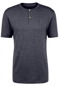 Fynch-Hatton Henley Shirt Linnen T-Shirt Navy
