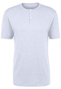 Fynch-Hatton Henley Shirt Linnen T-Shirt Wit