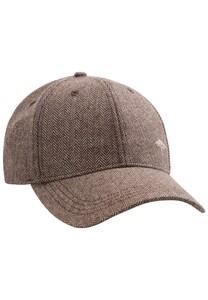 Fynch-Hatton Herringbone Pattern Cap Cap Brown-Beige