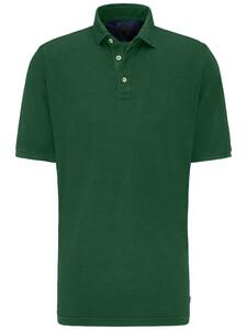 Fynch-Hatton Katoen Linnen Blend Garment Dyed Polo Palmtree