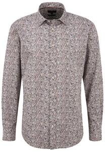 Fynch-Hatton Leaves Pattern Kent Shirt Multicolor