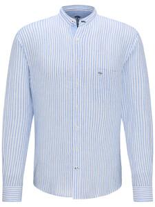 Fynch-Hatton Linen Classics Stripe Shirt Blue-White