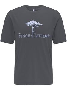 Fynch-Hatton Logo Round Neck T-Shirt Asphalt