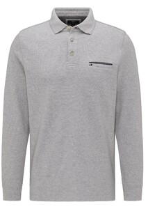 Fynch-Hatton Longsleeve Doubleface Poloshirt Silver