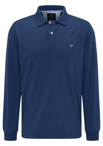 Fynch-Hatton Longsleeve Interlock Polo Midnight