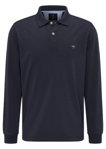 Fynch-Hatton Longsleeve Interlock Polo Navy