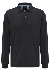 Fynch-Hatton Longsleeve Interlock Polo Zwart