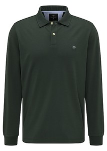 Fynch-Hatton Longsleeve Interlock Poloshirt Emerald