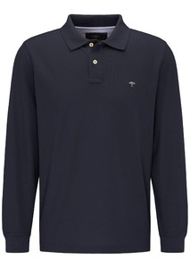 Fynch-Hatton Longsleeve Uni Polo Navy