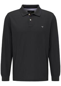 Fynch-Hatton Longsleeve Uni Polo Zwart