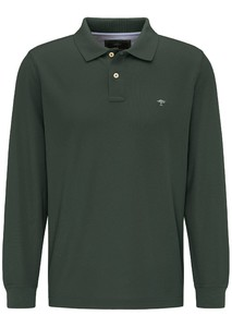 Fynch-Hatton Longsleeve Uni Poloshirt Emerald