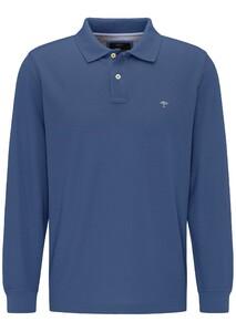 Fynch-Hatton Longsleeve Uni Poloshirt Indigo