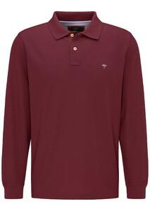 Fynch-Hatton Longsleeve Uni Poloshirt Merlot