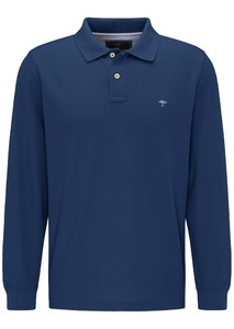 Fynch-Hatton Longsleeve Uni Poloshirt Midnight