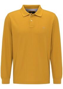 Fynch-Hatton Longsleeve Uni Poloshirt Mustard